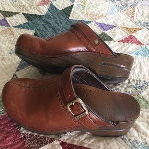 Dansko clogs with strap